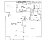 Floorplan-1Bd/1Bath-Tucker