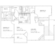 Floorplan-2Bd/2Bath-ChamberlainToo